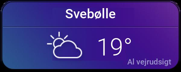 Vejret i Svebølle