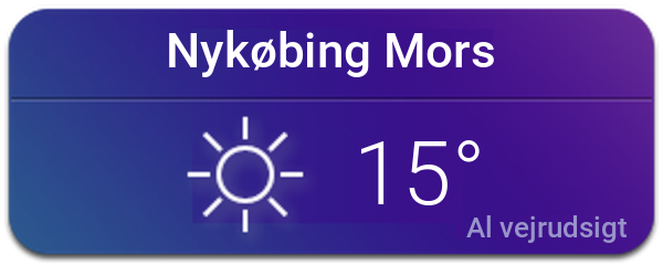 Vejret i Nykøbing Mors
